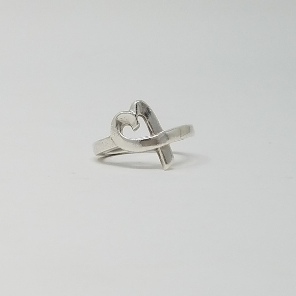 Tiffany And Co Loving Heart Ring Size 8 5